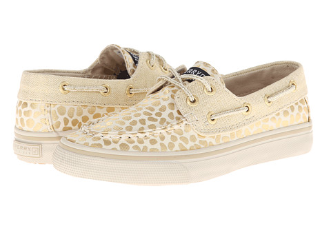 Sperry Top-Sider Kids - Bahama (Little Kid/Big Kid) (Gold/Abstract Dot Canvas) Girls Shoes