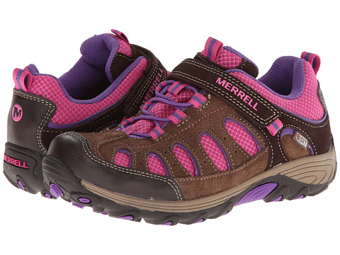 Merrell Kids - Chameleon Low A/C Waterproof (Little Kid) (Brown/Pink) Girls Shoes