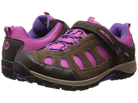 Merrell Kids - Chameleon Low A/C Waterproof (Big Kid) (Brown/Pink) Girls Shoes