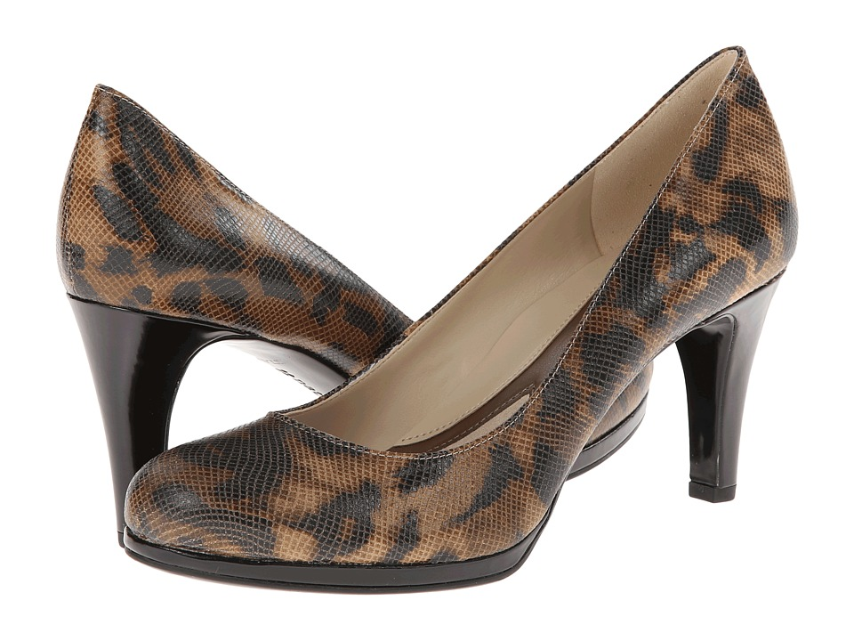 Naturalizer - Lennox (Natural Cheetah Printed Snake) High Heels