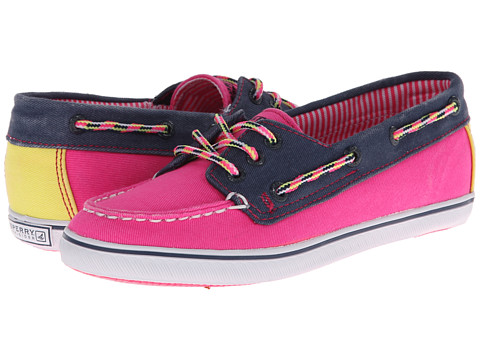 Sperry Top-Sider Kids - Cruiser (Little Kid/Big Kid) (Hot Pink/Navy/Citron Canvas) Girls Shoes