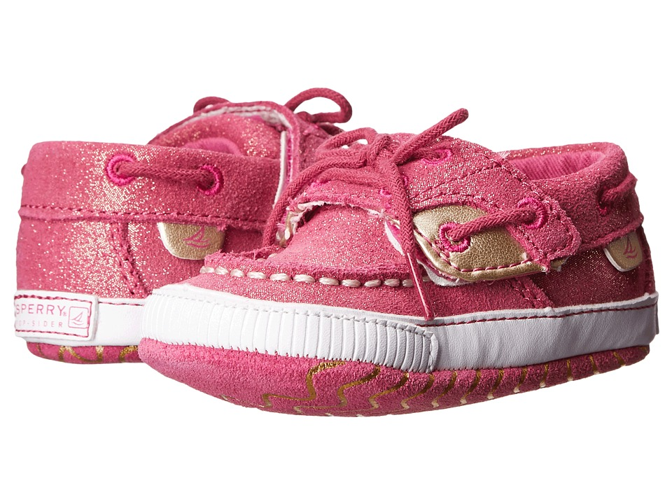Sperry Top-Sider Kids - Soft Sole Crib (Infant/Toddler) (Magenta Leather) Girl