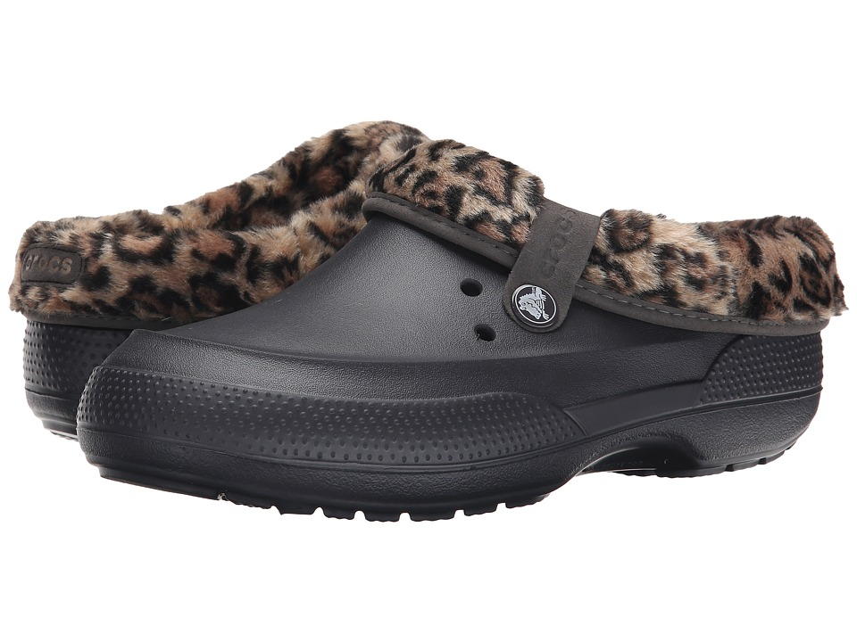 Crocs - Blitzen II Animal Print Clog (Onyx/Gold) Clog Shoes