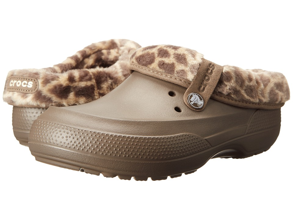 Crocs - Blitzen II Animal Print Clog (Pewter/Chai) Clog Shoes