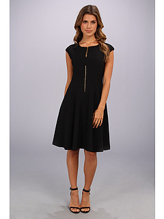 SALE! $64.99 - Save $53 on Maggy London Techno Crepe Fit And Flare Dress (Black) Apparel - 44.92% OFF $118.00