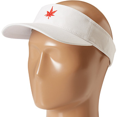 SALE! $11.99 - Save $14 on Boast Leaf Logo Twill Visor (White Red) Hats - 53.88% OFF $26.00