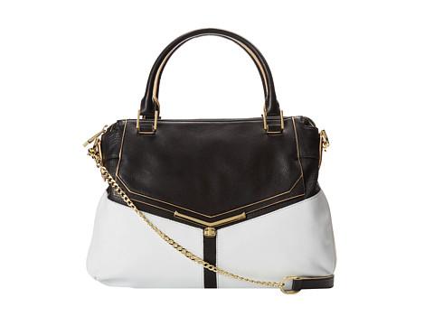 Botkier Valentina Satchel (Black/White) Satchel Handbags