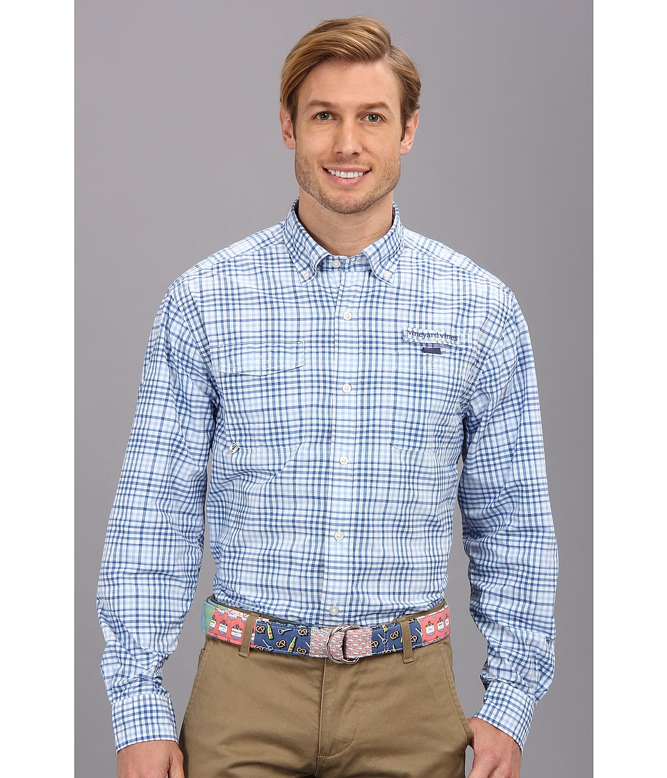 Vineyard Vines - South Shore Harbor Shirt (Jake Blue) Men's Long Sleeve Button Up