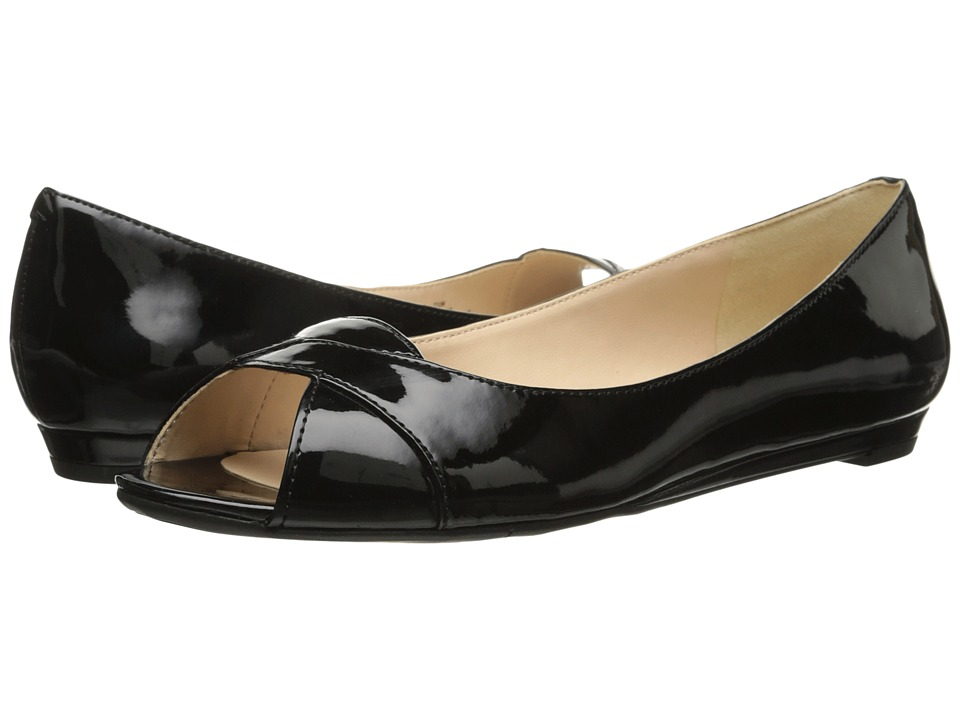 Nine West Aloha (Black Patent Synthetic) Women
