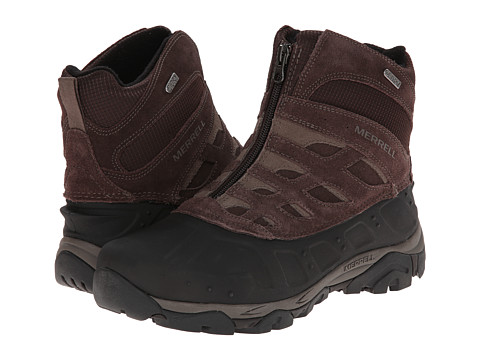 Merrell - Moab Polar Zip Waterproof (Black Slate) Men