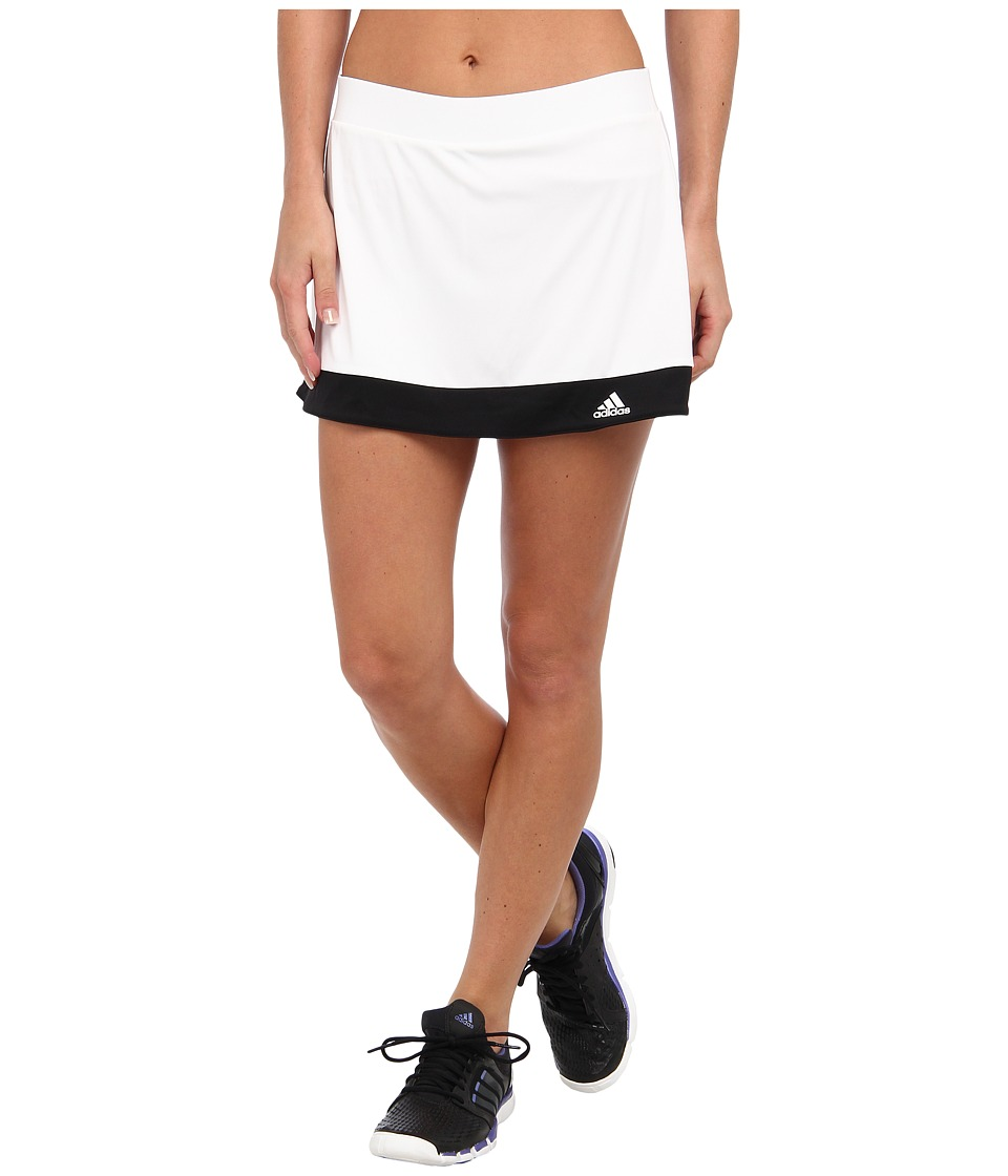 adidas - Galaxy Skort (White/Black) Women's Skort