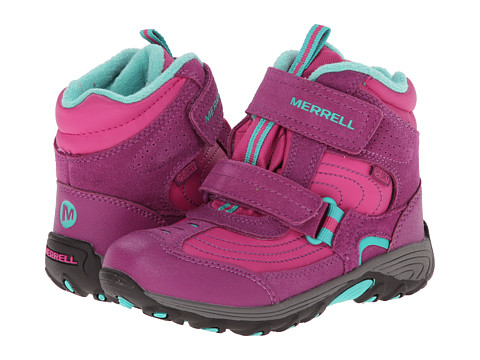 Merrell Kids - Moab Polar Mid Strap 2.0 Waterproof (Toddler/Little Kid) (Pink/Berry) Girls Shoes