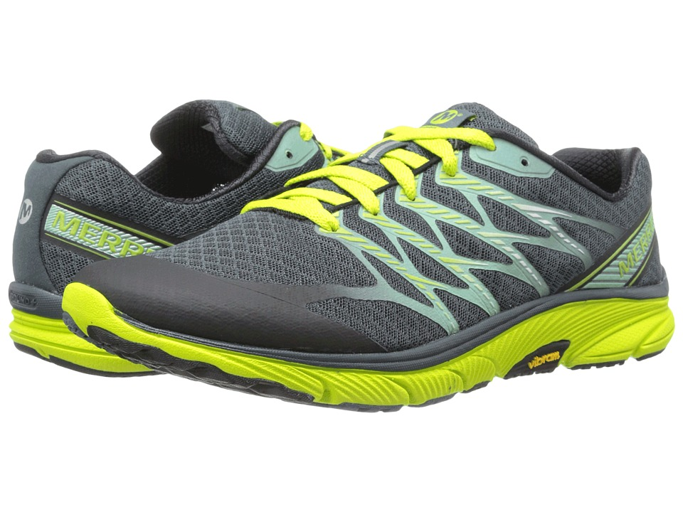 Merrell - Bare Access Ultra (Caslte Rock/Lime) Men's Running Shoes