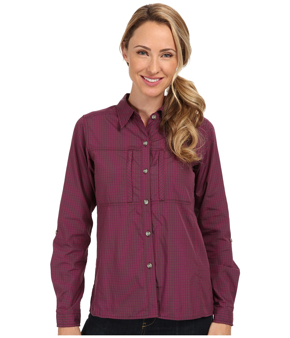 ExOfficio - Drylite Check L/S (Antique Plaid) Women's Long Sleeve Button Up