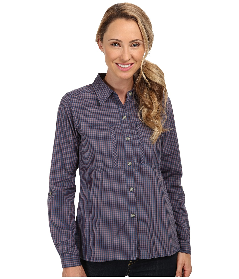 ExOfficio - Drylite Check L/S (Isle Plaid) Women's Long Sleeve Button Up