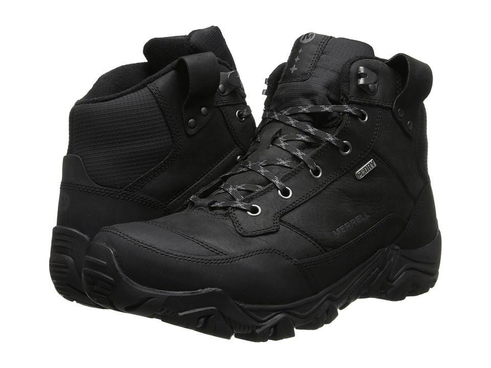 Merrell - Polarand Rove Waterproof (Black) Men's Hiking Boots