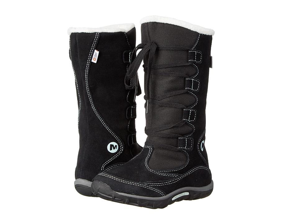 Merrell Kids - Jungle Moc Boot Waterproof (Toddler/Little Kid) (Black/Mint) Girls Shoes