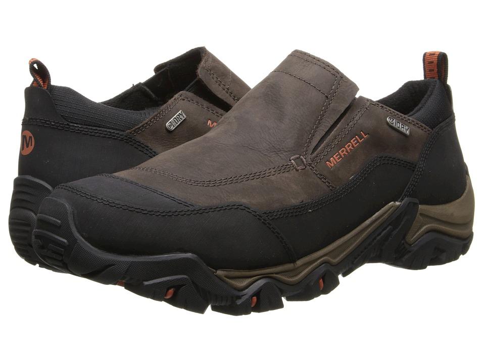 Merrell - Polarand Rove Moc Waterproof (Black Slate) Men's Slip on Shoes