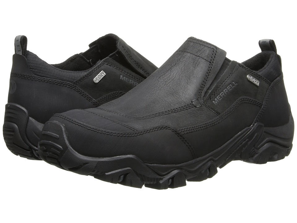 Merrell - Polarand Rove Moc Waterproof (Black) Men's Slip on Shoes