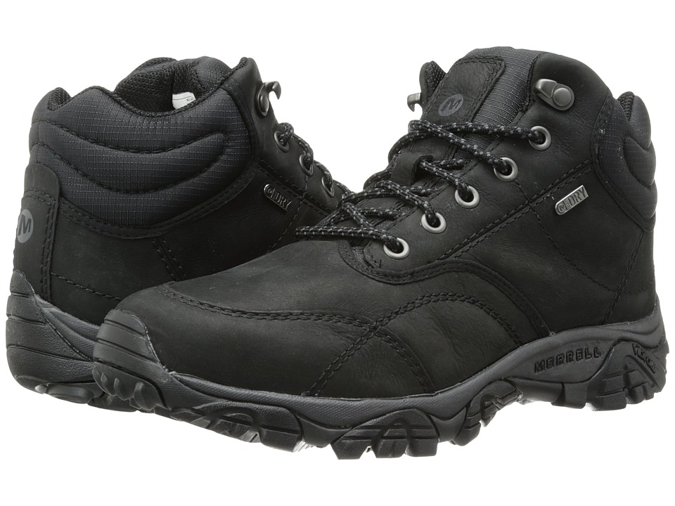 Merrell - Moab Rover Mid Waterproof (Black) Men's Waterproof Boots
