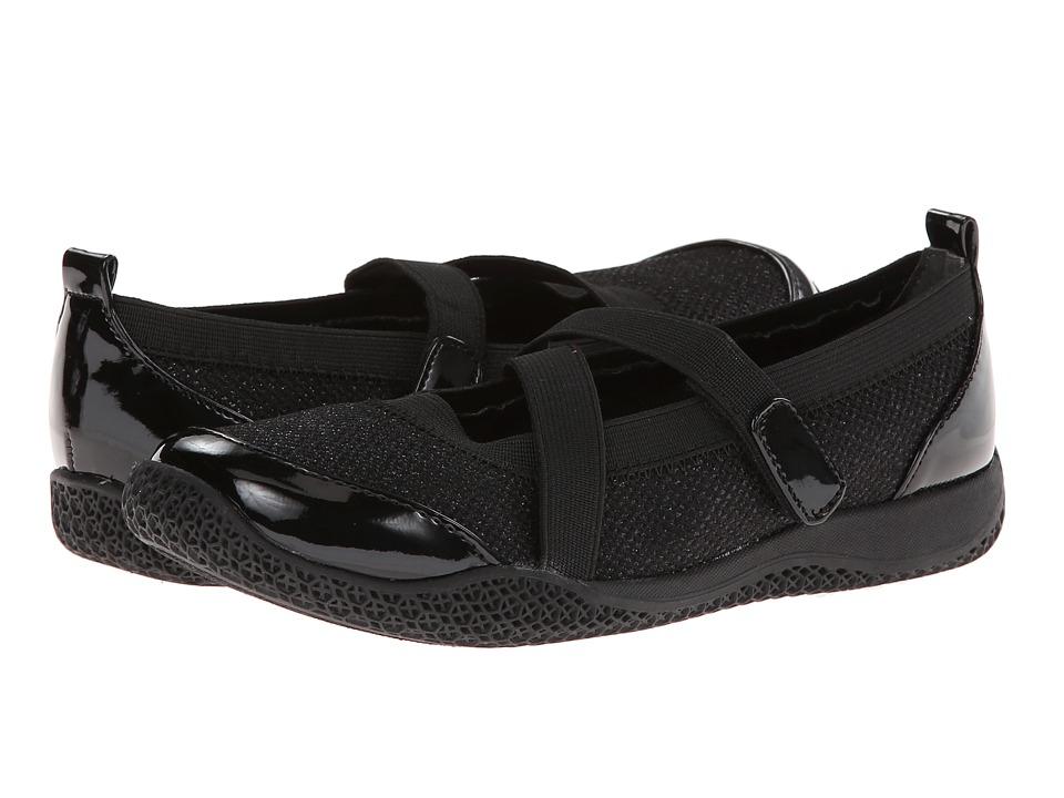 Nina Kids - Sarena (Toddler/Little Kid/Big Kid) (Black Glitter Mesh/Black Patent) Girls Shoes