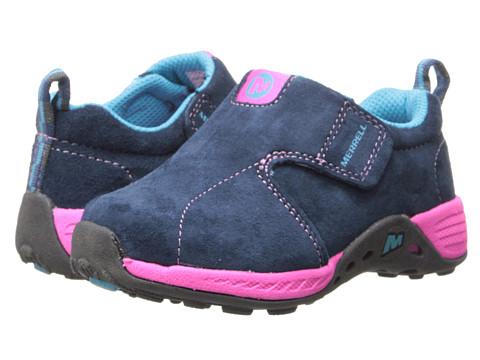Merrell Kids - Jungle Moc Sport Jr. (Toddler) (Navy/Pink) Girls Shoes