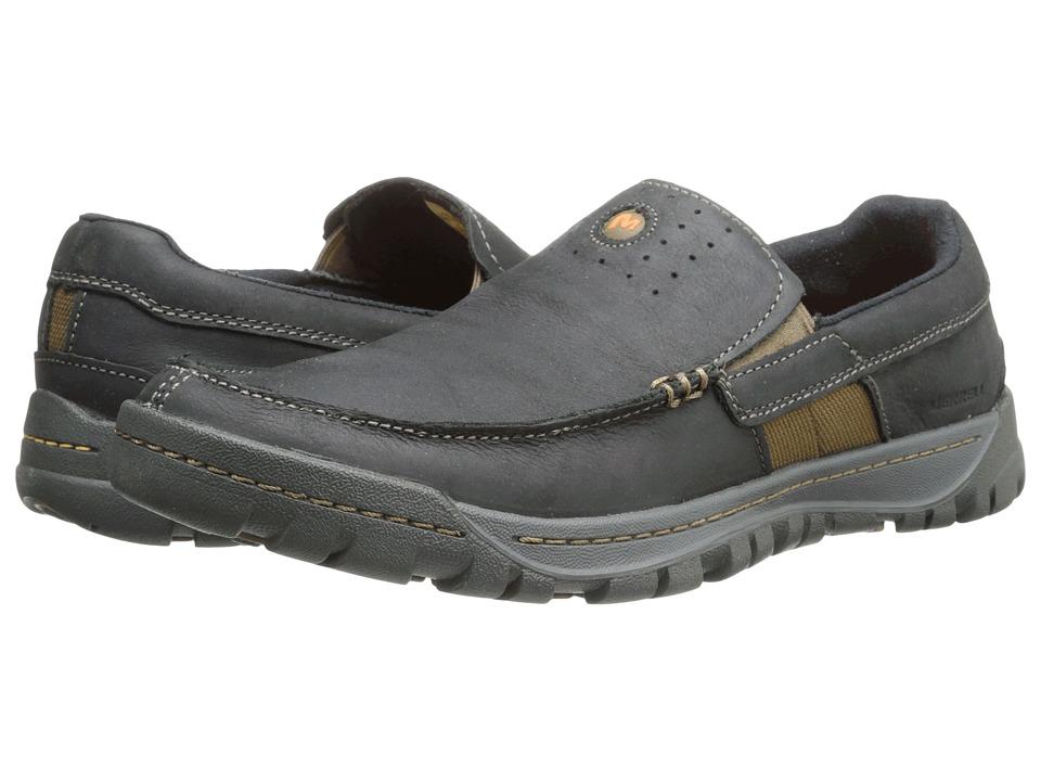 Merrell - Traveler Point Moc (Black) Men's Slip on Shoes