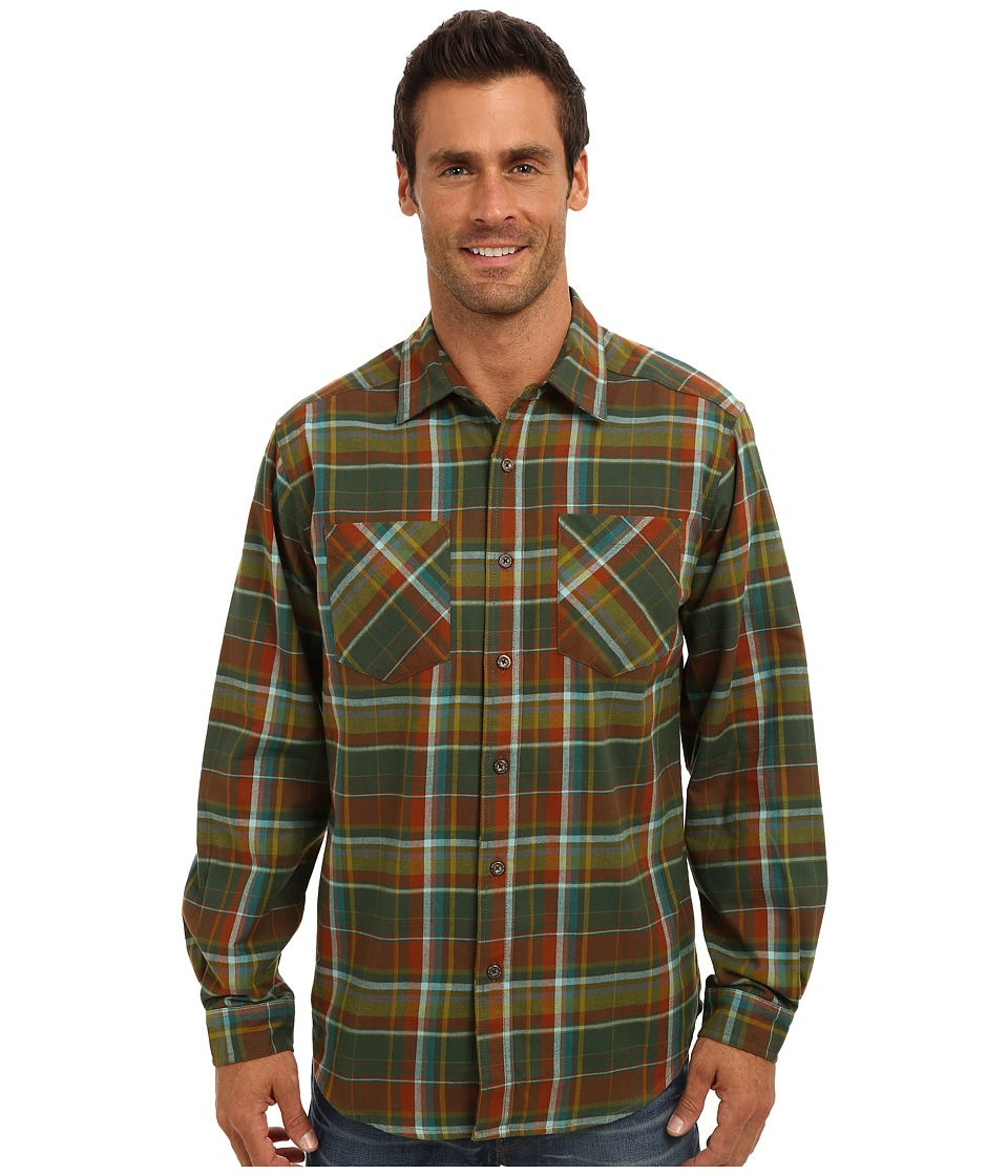ExOfficio - Geode Flannel L/S (Petrol) Men's Long Sleeve Button Up