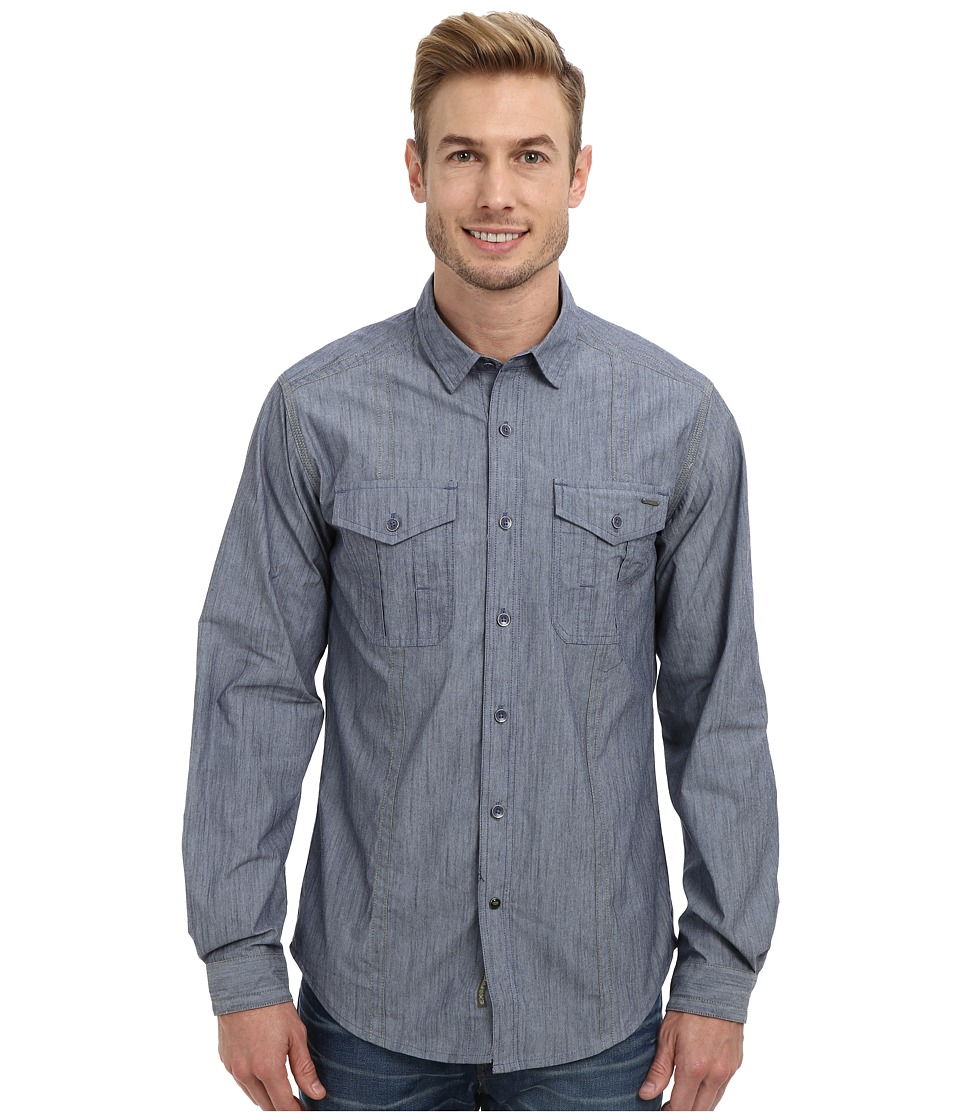 ExOfficio - Ferrara Chambray L/S (Evening) Men's Long Sleeve Button Up