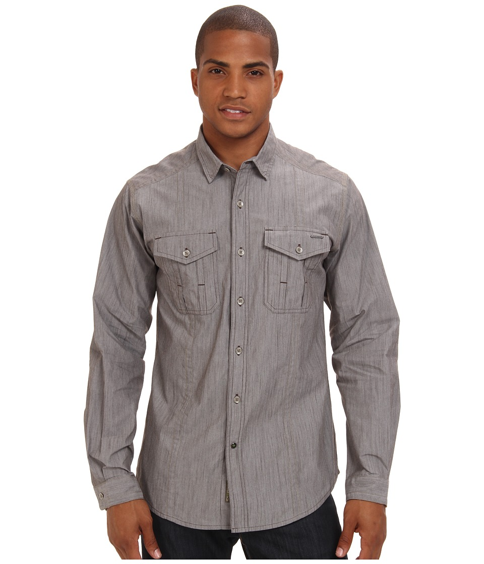 ExOfficio - Ferrara Chambray L/S (Tough) Men's Long Sleeve Button Up