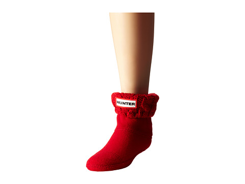 Hunter Kids - Dual Cable Knit Boot Sock (Toddler/Little Kid/Big Kid) (Military Red) Kids Shoes
