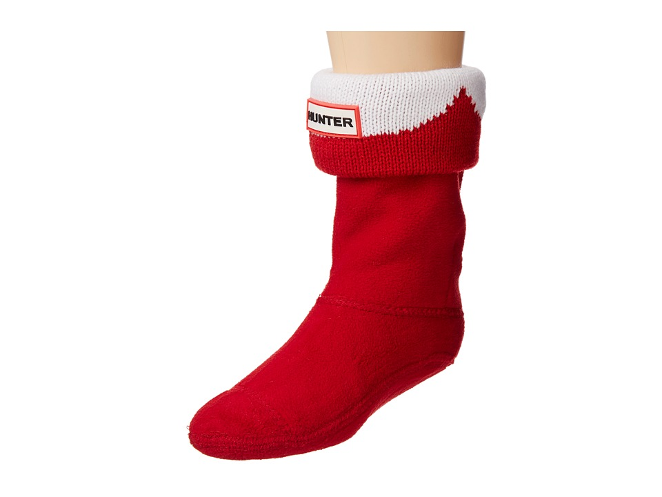 Hunter Kids - Moustache Boot Sock (Toddler/Little Kid/Big Kid) (Military Red/Optic White) Kids Shoes