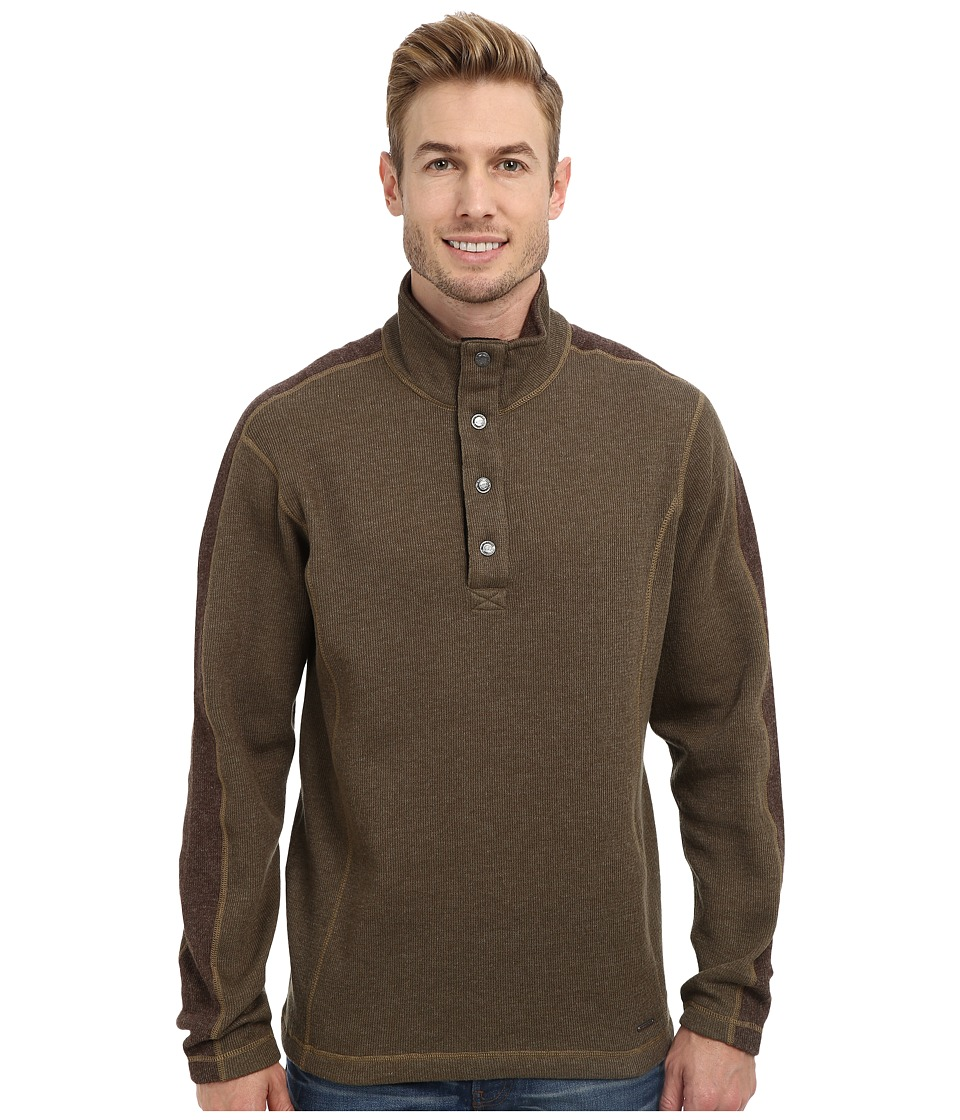 ExOfficio - Ruvido Snap Henley Sweater (Loden/Tough) Men's Sweater