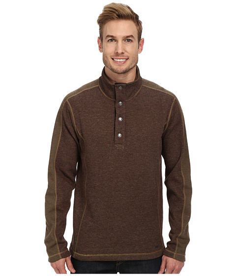 ExOfficio - Ruvido Snap Henley Sweater (Tough/Loden) Men's Sweater