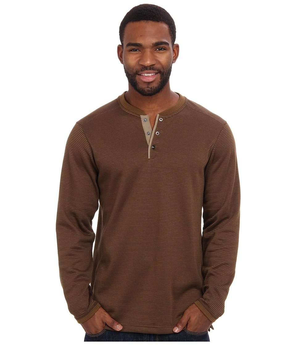 ExOfficio - Isoclime Thermal Henley (Tough/Fig) Men's Long Sleeve Pullover