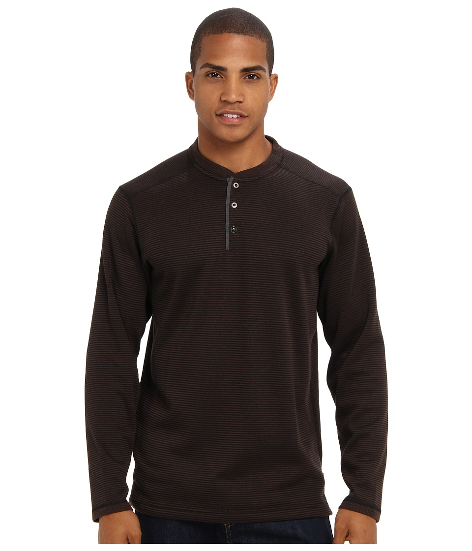 ExOfficio - Isoclime Thermal Henley (Black/Dark Charcoal) Men