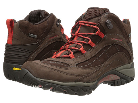Merrell - Siren Waterproof Mid Leather (Dark Earth/Red) Women