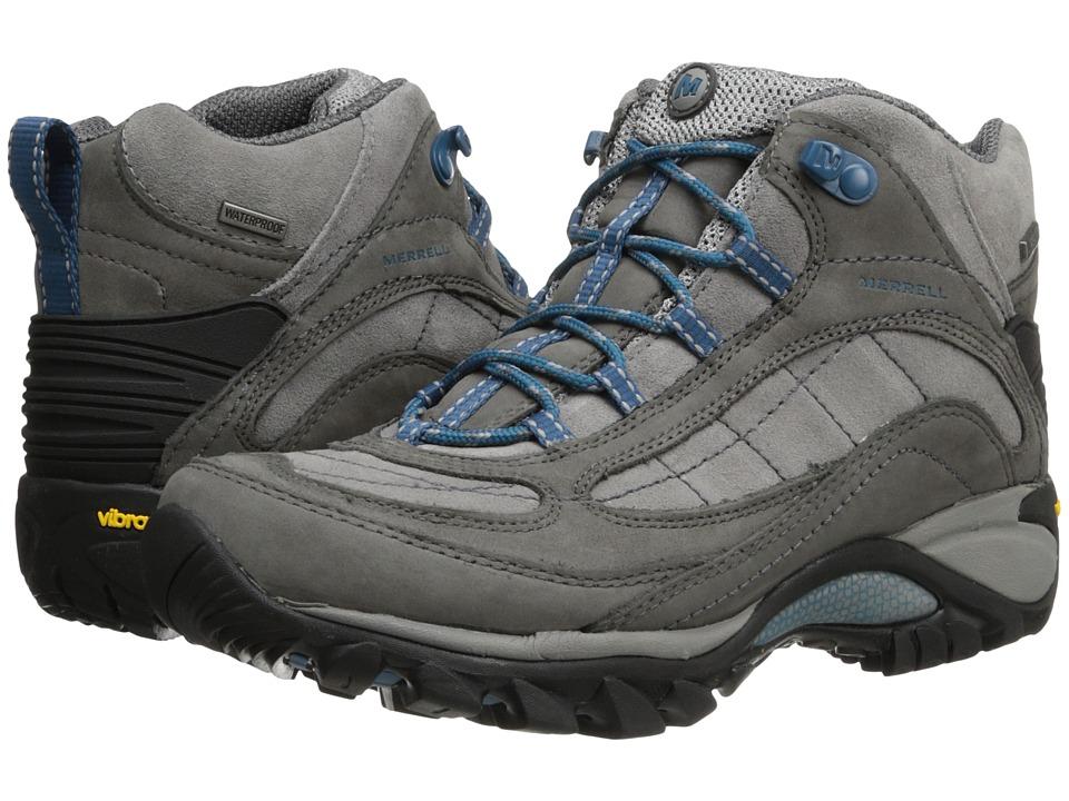 Merrell - Siren Waterproof Mid Leather (Castle Rock/Blue) Women's Lace-up Boots