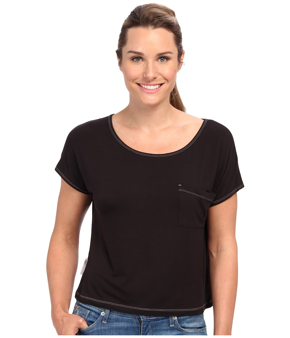 UGG - Ella S/S Knit (Black) Women's Short Sleeve Pullover