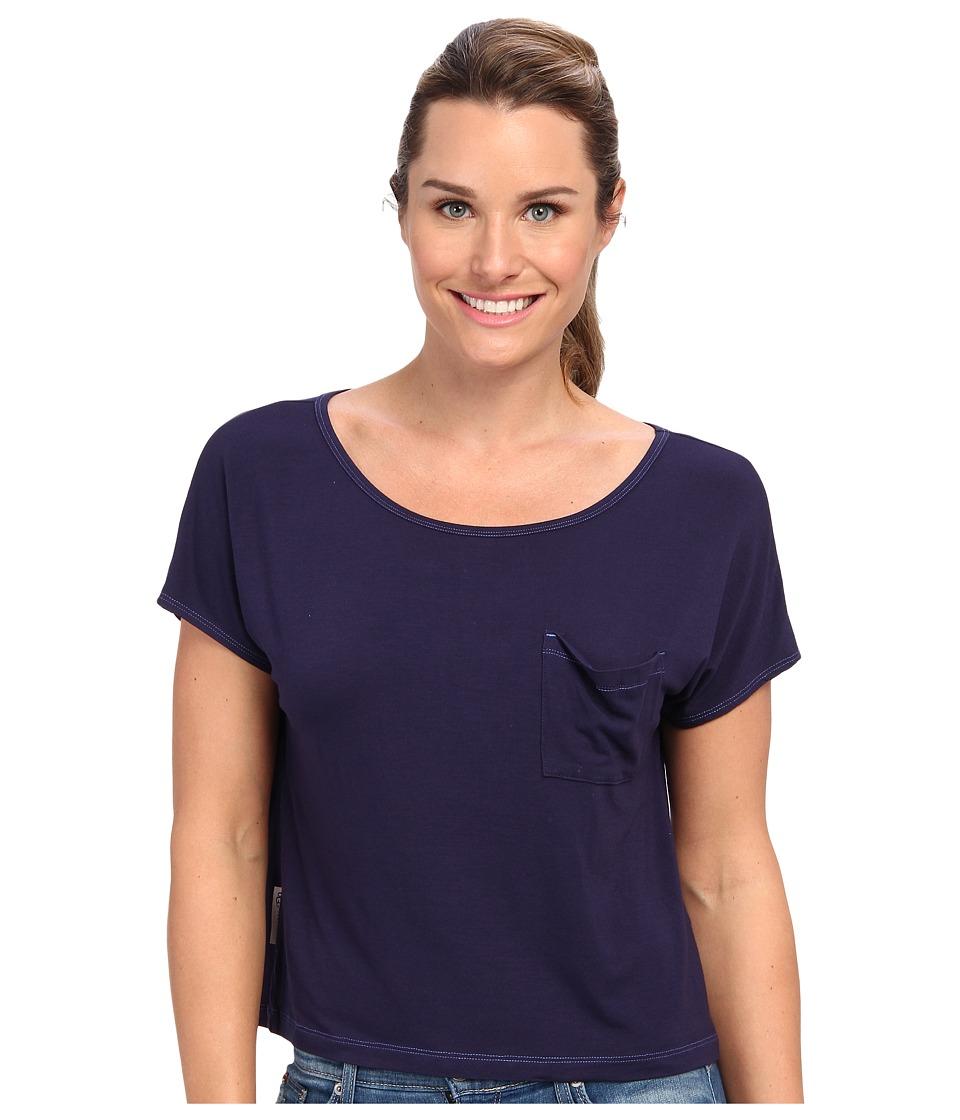 UGG - Ella S/S Knit (Peacoat) Women's Short Sleeve Pullover