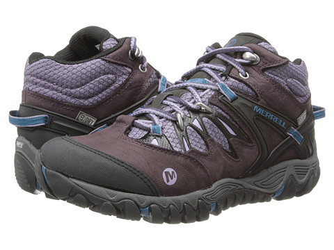 Merrell - Allout Blaze Mid Waterproof (Plum Perfect) Women's Shoes