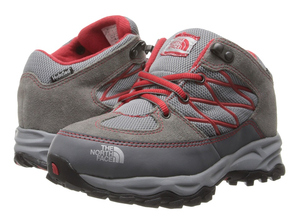 The North Face Kids - Storm Waterproof (Toddler/Little Kid/Big Kid) (Monument Grey/TNF Red) Boys Shoes