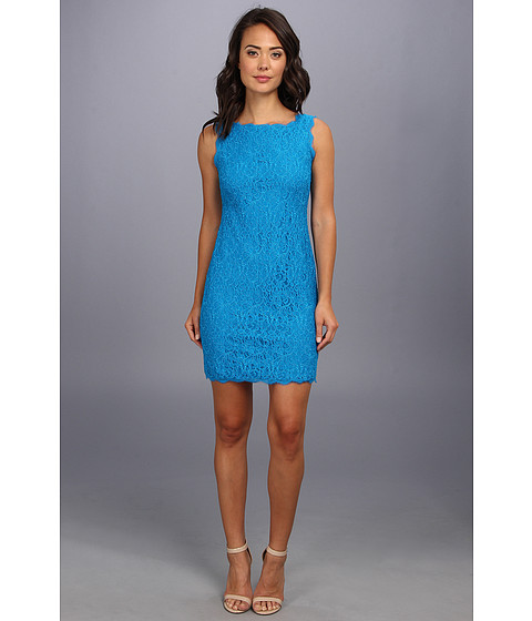 Adrianna Papell - Sleeveless Dress (Cerulean) Women