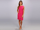 Adrianna Papell Illusion Shift Dress (Fuchsia)