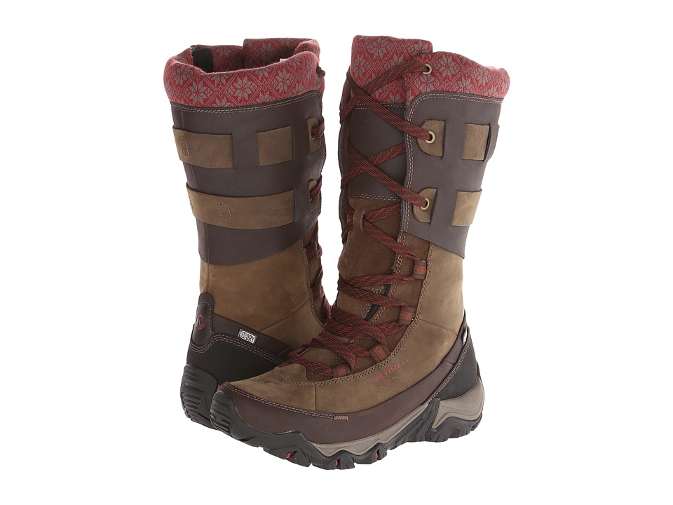 Merrell - Polarand Rove Peak Waterproof (Black Slate) Women's Waterproof Boots