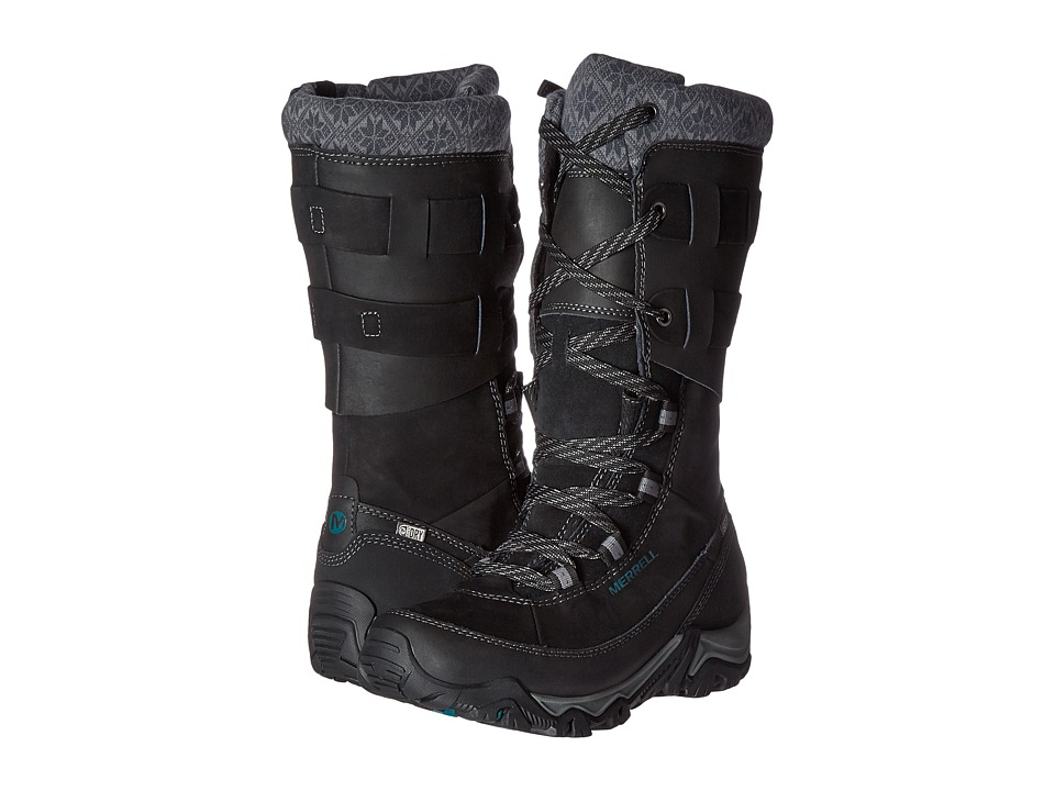 Merrell - Polarand Rove Peak Waterproof (Black) Women's Waterproof Boots