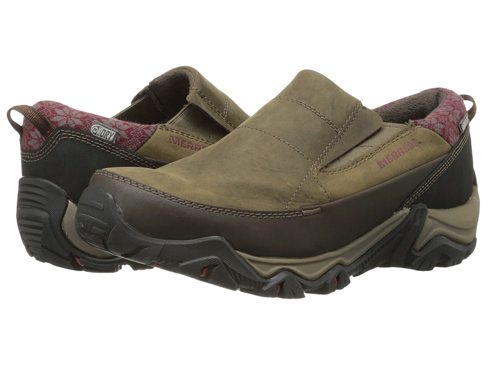 Merrell - Polarand Rove Moc Waterproof (Black Slate) Women's Slip on Shoes