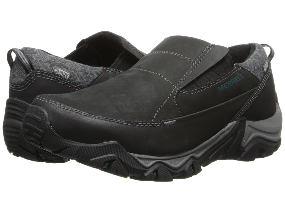 Merrell - Polarand Rove Moc Waterproof (Black) Women's Slip on Shoes