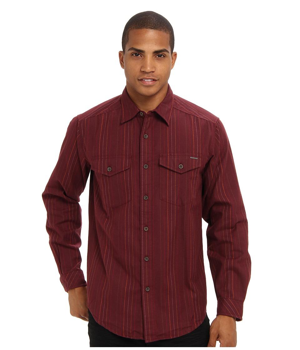 ExOfficio - Trail Crest Flannel L/S (Baroque) Men's Long Sleeve Button Up