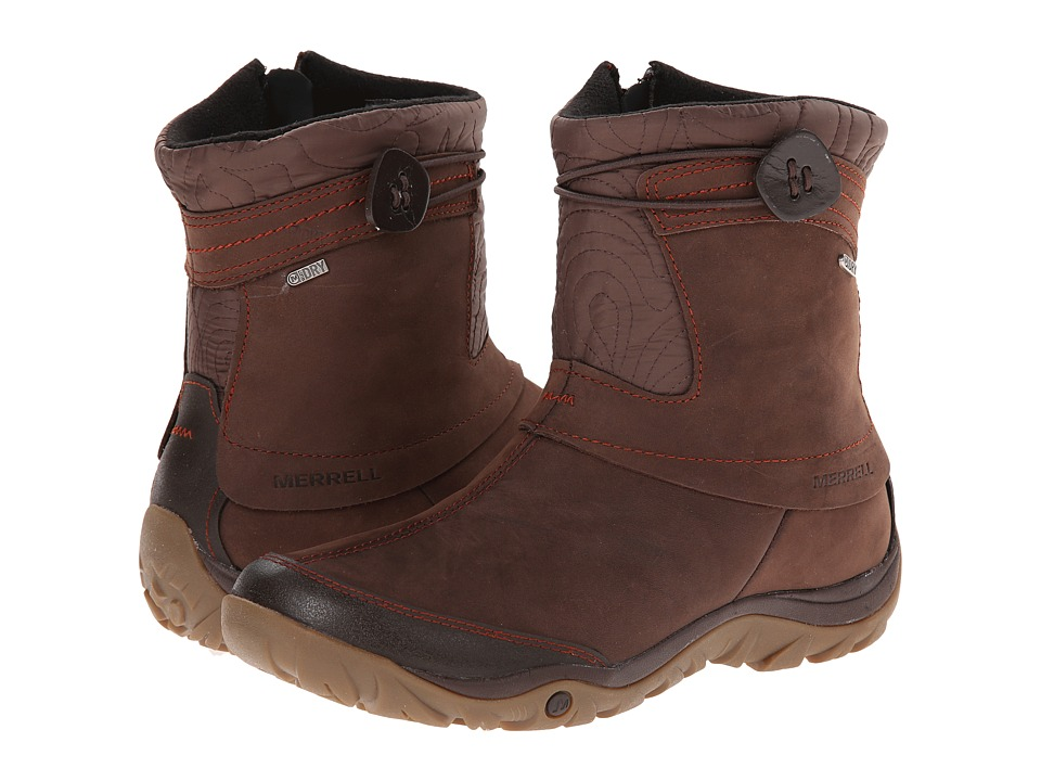Merrell - Dewbrook Zip Waterproof (Brown) Women's Zip Boots